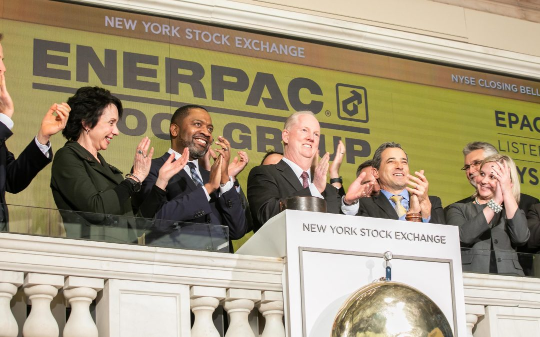 Enerpac Tool Group rings the closing bell at the New York Stock Exchange