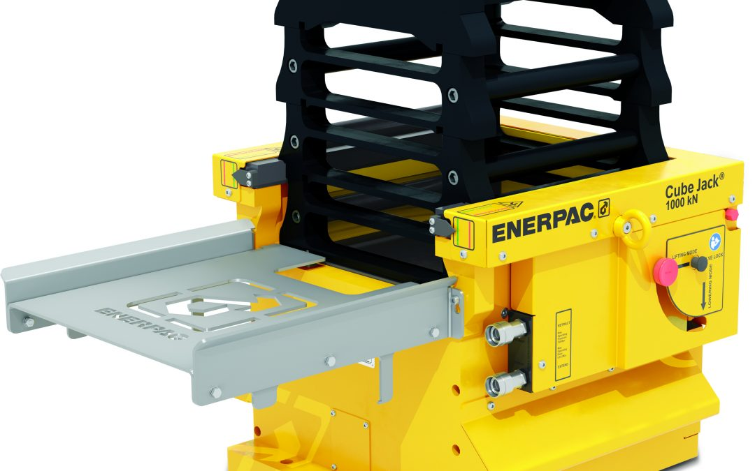 Enerpac SCJ-100 Self-Locking Cube Jack Adds High Capacity Lifting: 100-ton Capacity With Automated Mechanical Locking for Faster and Safer Lifting